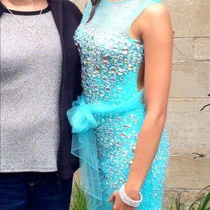 Turquoise Jovani Prom Dress